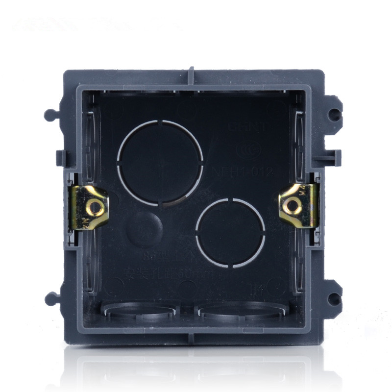 free shipping 86 cassette Wall Plate Box for 86 Type wall plate switch and socket stair step light lamp lighting mounting box