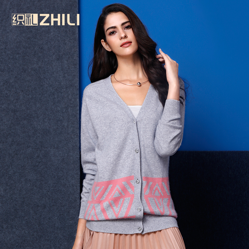 ZHILI Женская Кнопка Вниз свободная с длинным рукавом v образным вырезом Мягкая вязаная Кардиган кашемировый свитер
