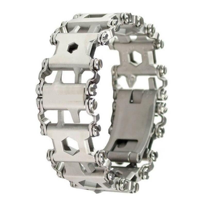 H954 Extérieur En Acier Inoxydable bracelet portable Outils Tournevis Multifonction 29 sortes Fonction EDC D'urgence Gadget