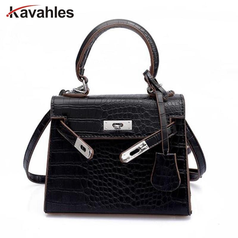f0ef9ec5b6ad 2019 Брендовые женские сумки из крокодиловой кожи Модная маленькая сумочка женские  роскошные сумки через плечо Bolsa