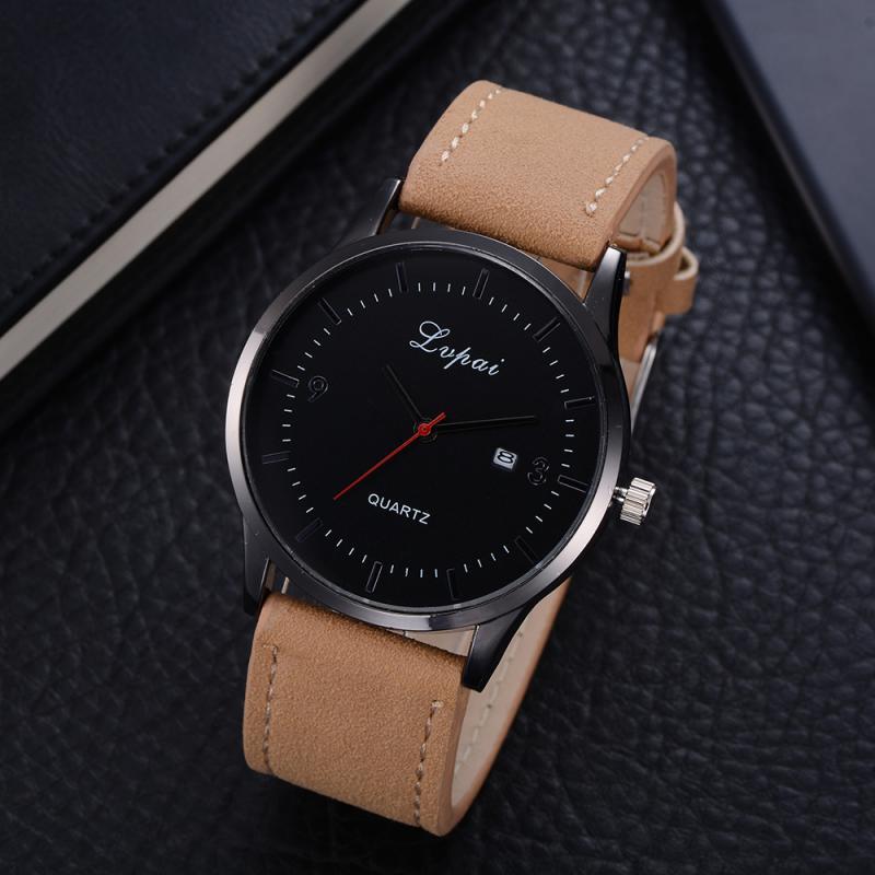 LVPAI Analog Date Men Quartz Watch Male Big Dial Business Dress Wristwatch for Man Casual Sport Clock Relogio Masculino