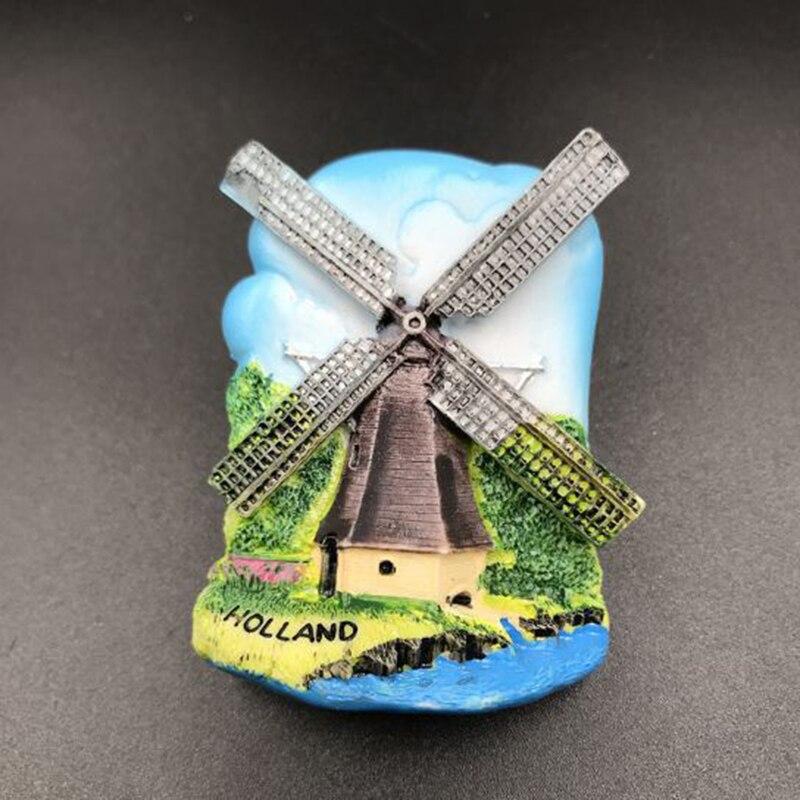 1 Pz New Handmade I Paesi Bassi Windmill Aromaterapia 3d Fridge Magnets World Travel Souvenir Frigorifero Autoadesivo Magnetico Sconto Complessivo Della Vendita 50-70%