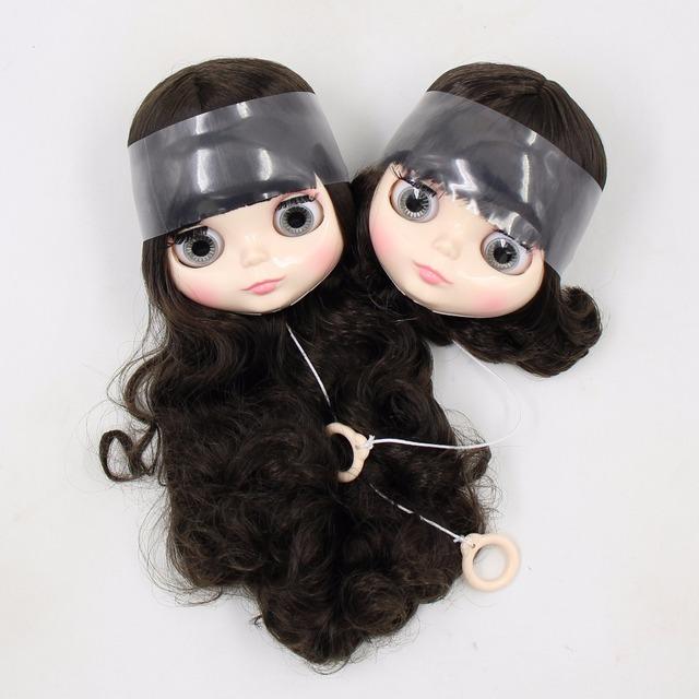 Neo Blythe Only Head Short & Long Black Hair