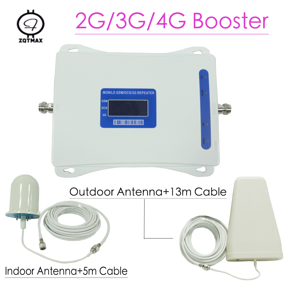 Dual Band Signal Gsm Repeater 2G 3G 4G Mobile Signal Repeater GSM 900MHz UMTS 2100MHz WCDMA Cellular Signal Booster Antenna Kit