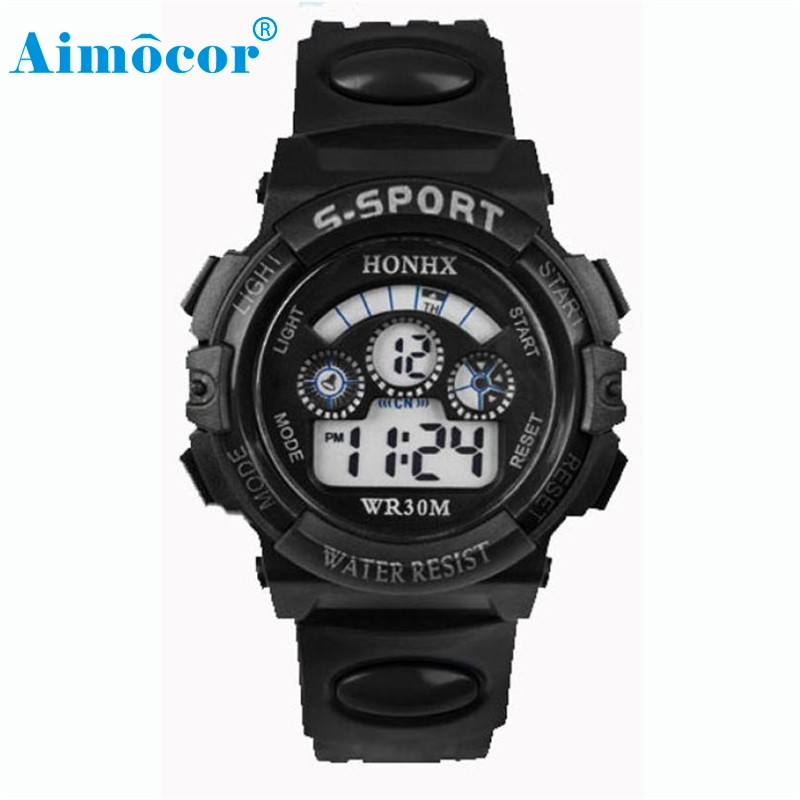 2017 Newly Designed HOT Waterproof Mens Boy's Digital LED Quartz Alarm Date Sports Wrist Watch 327