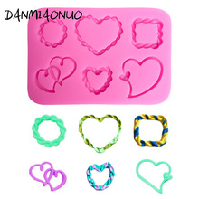 DANMIAONUO Lovely Love shape Cupcake Mold Candy Cake Decorating Tools Silicone Fondant Silikon Form For Soap Muffin A1061