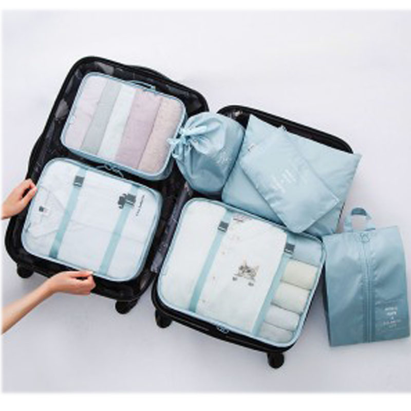 JXSLTC 7 PCS Travel Suitcase Closet Divider Container Storage Bag Set For  Clothes Tidy Organizer Packing Cubes Laundry Bag In Storage Bags From Home  ...