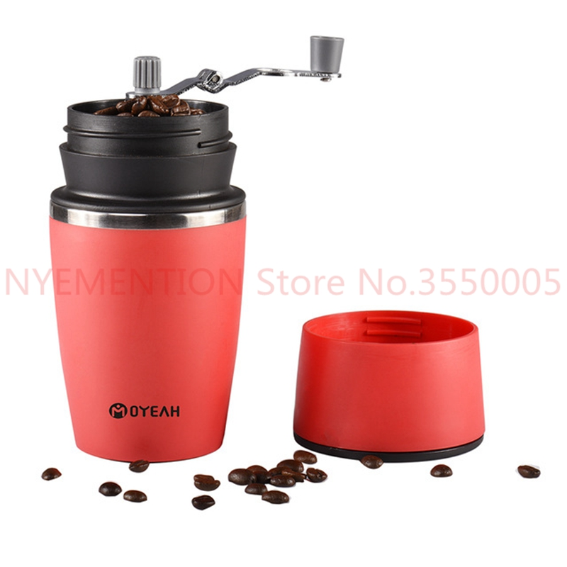 Manual Coffee Grinder Mill cup Coffee Maker Hand Mill Grinder Ceramic Corn Burr Mill Coffee Grinding Machine 10pcs