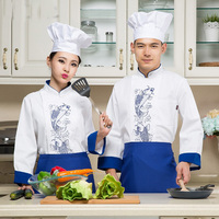 Long Sleeve Hotel Chef S Jacket Winter Autumn Kitchen Worker Outfit Chinese Restaurant Kitchen Overalls Male