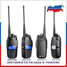 "TYT TH UV8000D ווקי טוקי 10 ק""מ VHF 136 174MHz UHF 400 520MHz Dual band כף יד חם רדיו FM משדר שתי דרך רדיו"