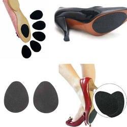 2 шт., самоклеящаяся Подушка на высоком каблуке для женщин, нескользящая подкладка, черная резиновая подошва, протекторы, аксессуары для