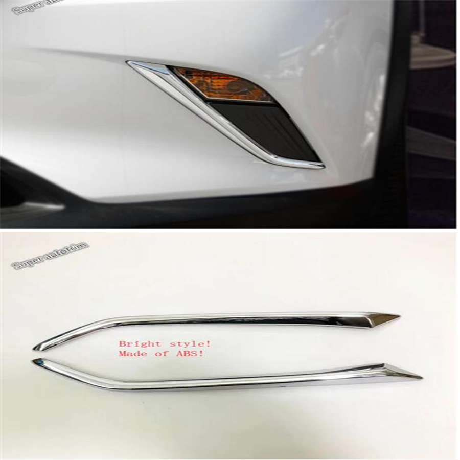 Lapetus Front Fog Lights Foglights Lamp Eyelid Eyebrow Strip Cover Trim 2 Pcs For <font><b>Mazda</b></font> CX-3 <font><b>CX3</b></font> 2015 - <font><b>2019</b></font> ABS Accessories image