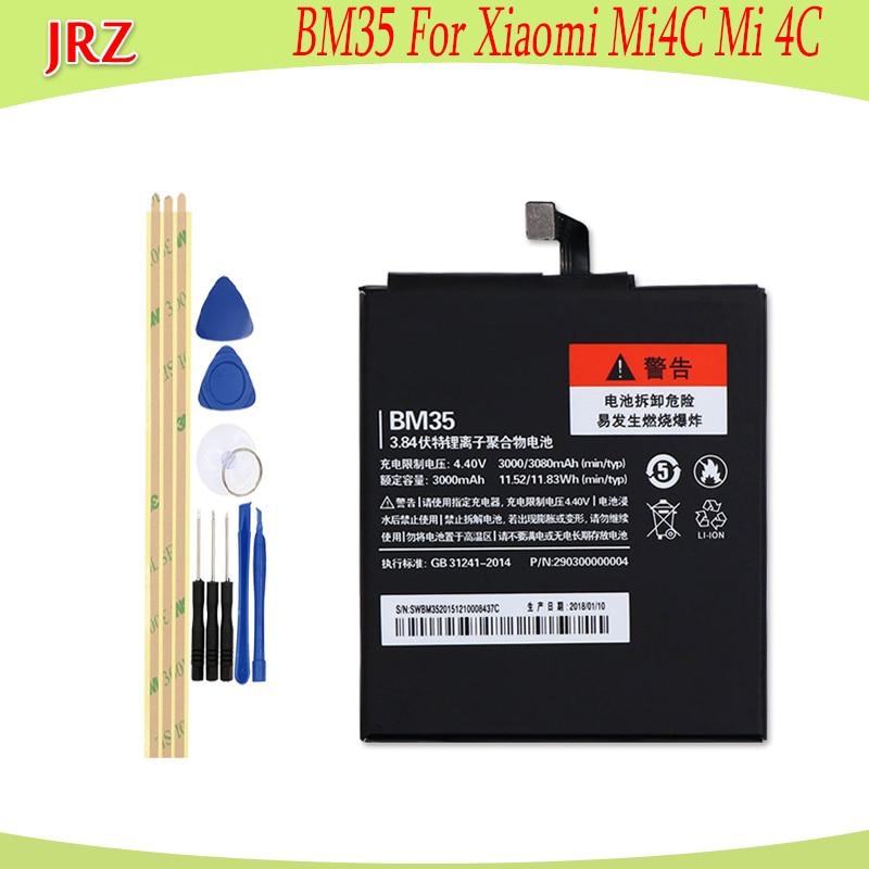 For Xiaomi Mi4C Battery for Xiaomi Mi 4c Bateria Accumulator AKKU BM35 3000mAh+Tools|3 battery|battery 3battery for xiaomi - AliExpress