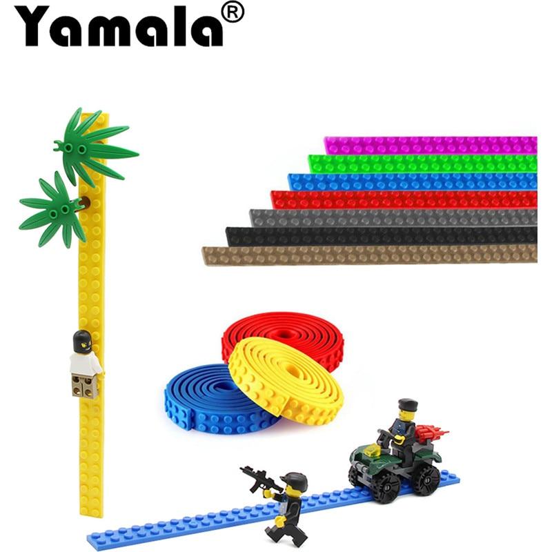 [Yamala] 25cm 2×32 Dots Small Nimuno Loops Plastic Tape Blocks Base Legoingly Building Blocks DIY Baseplate Toys