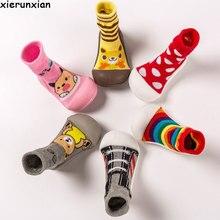Нескользящие Детские носки для раннего образования детские высокие носки унисекс обувь для маленьких девочек обувь для мальчиков детские тапочки детская обувь с резиновой подошвой