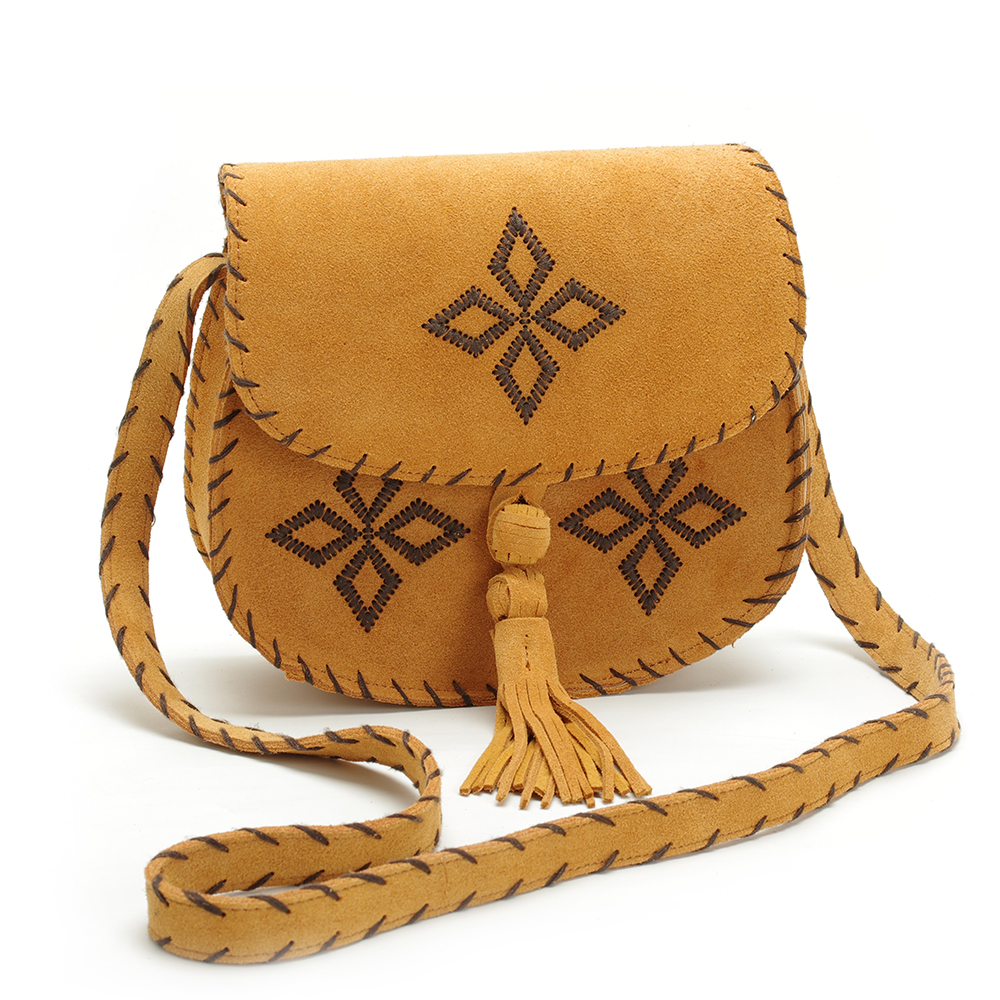 tassel bag quality leather handbag vintage shoulder diagonal package small bag Handmade flowers Free Shipping free shipping vintage hmong tribal ethnic thai indian boho shoulder bag message bag pu leather handmade embroidery tapestry 1018