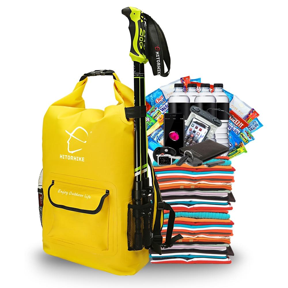 HITORHIKE 25L Outdoor Water Resistant Dry Bag Sack Swim Storage for Rafting Boating Kayaking Canoeing Camping Travel Kits