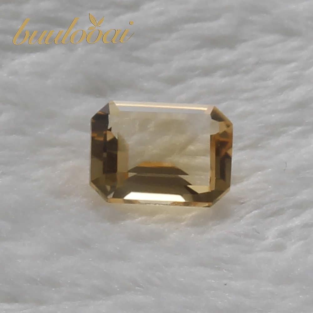buulooai natural citrine 6*8mm 100% citrine loose gemstones for 925 sterling silver jewelry