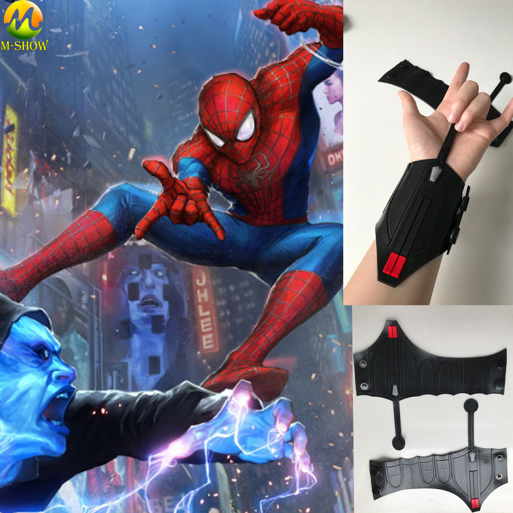 Spider Man Homecoming Cosplay Peter Parker Superhero Wrist launcher Shooter Halloween Accessories