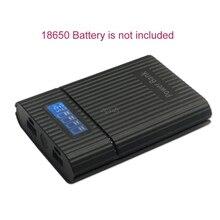 Anti Reverse Diy Power Bank Box 4X18650 Batterij Lcd Display Lader Voor Iphone Nieuwe Diy Power Station case Voor Smart Telefoon