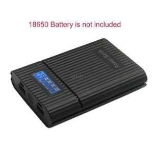 Anti reverso diy power bank box 4x18650 bateria display lcd carregador para iphone nova diy caso da estação de energia para o telefone inteligente|  -