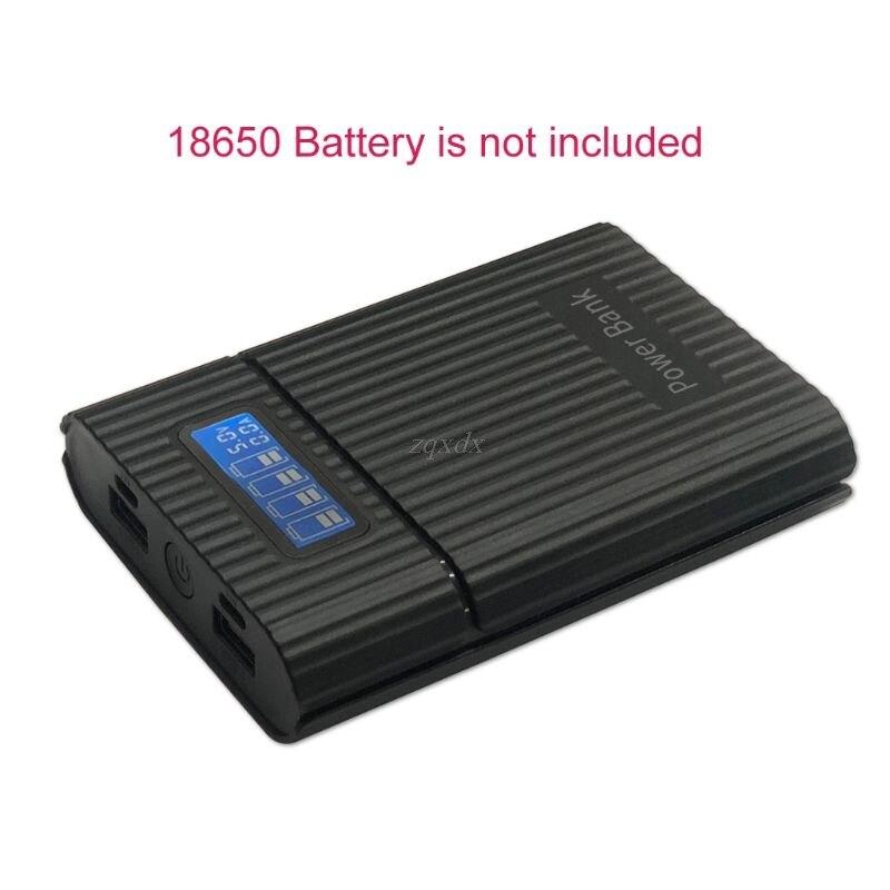 Bateria anti reverso diy 4x18650, bateria lcd, carregador para iphone, nova estação de energia diy capa para smartphone