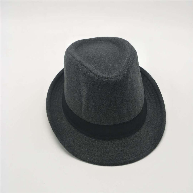 d5f34ab161f 2018 Winter Gentleman Cashmere Hat Men Women Warm Wool Felt Hat Panama  Gangster Cap Jazz Hat