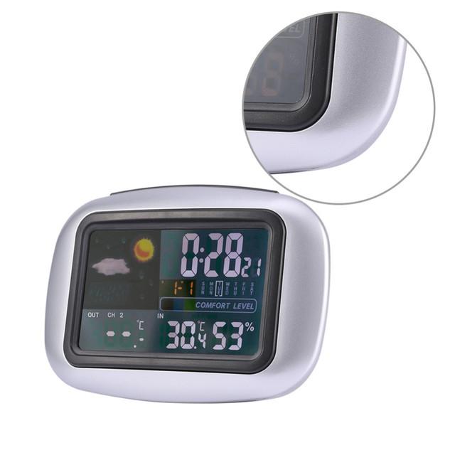 Digital Termómetro Higrómetro Temperatura de Colorido LCD Digital Wireless Indoor/Outdoor Home Estaciones Meteorológicas
