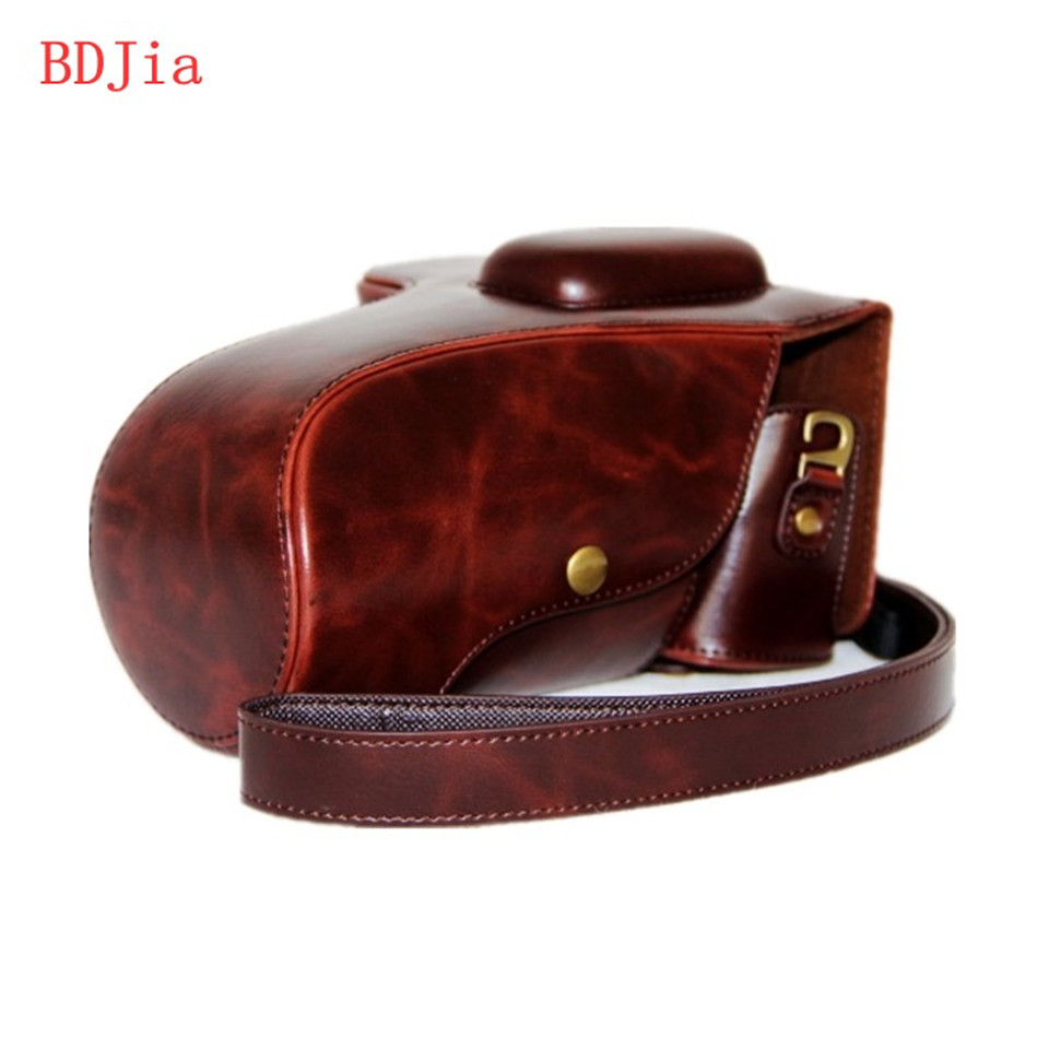PU Leather Oil Skin Camera Case Bag Cover for Nikon D5300 D5200 D5100 DRSL Camera Without