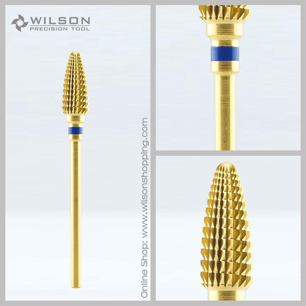 Cono grande - Dorado - Medio (1140120) - Broca de metal duro - Arte de uñas
