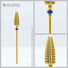 Stor Cone - Guld - Medium (1140120) - WILSON Carbide Nail Drill Bit