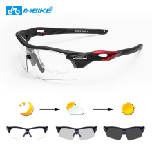 INBIKE Photochromic Sports Eyewear Windproof Cycling Glasses MTB Road Bike Polar