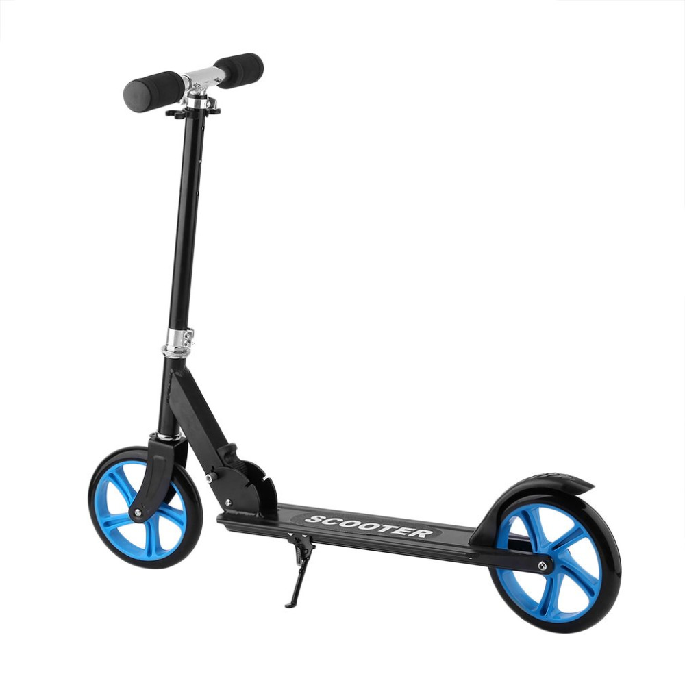 205mm PU Wheel Forerake Head Double Brake Scooter For Adult Child Adjustable Height Foldable Big Wheel Scooter hanro ночная рубашка