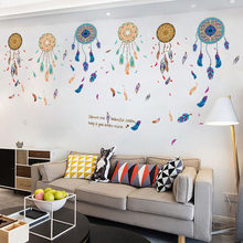 Mandala pola dinding stiker dinding bata self-adhesive home decor living room Mural Art pegatinas dikupas gato # XT(China)