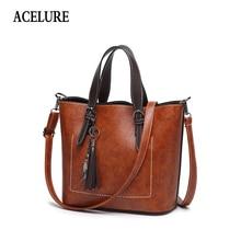 Bolso de hombro para mujer de ACELURE, bolso de piel Vintage a la moda, glamuroso bolso de mensajero para mujer, bolso cruzado Retro, bolsos