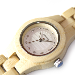 Image 5 - בובו ציפור שעון נשים במבוק זברה עץ אבני חן לחקות יוקרה מותג קוורץ שעונים בעץ תיבת XFCS relogio feminino W O29
