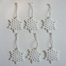 10pcs/set Christmas Snowflake Pendant for Tree Decorations Gifts Party Supplies 8x8cm