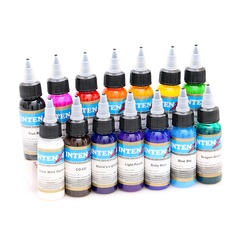 advanced14pcs 30ml Professional Tattoo Ink 14 Colors Set 1oz 30ml/Bottle Tattoo Pigment Kit Fashion Makeup cosmetics Tools wholesale high quality 30ml professional tattoo ink 14 colors set 1oz 30ml bottle tattoo pigment kit fashion makeup cosmetics