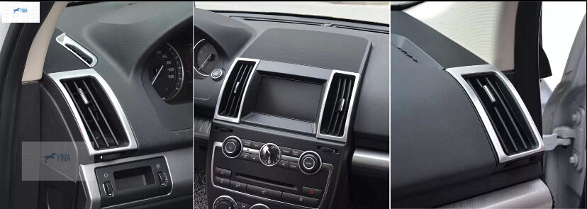 New Style ! For Land Rover Freelander 2 2011 - 2015 ABS Air conditioning Outlet Vent Frame Cover Interior Trim 4 pcs
