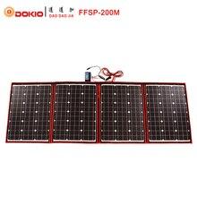 Dokio Schwarz Sonnenkollektoren 200 Watt (50 Watt x 4 Stück) 18 V nur China Faltbare + 12/24 V Volt Controller Panels Solar batterie ladung wohnmobil