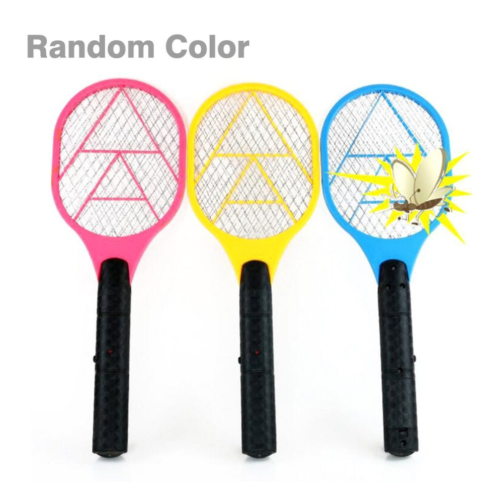 Handheld Electric Tennis Racket Battery Power Lightweight Mosquito Swatter Pest Bug Fly Mosquito Killer Repeller Zapper Swatter