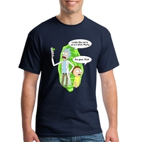 For Man Rick And Morty Short Sleeved Tee Shirts Humor O Neck Cool Tees For Men