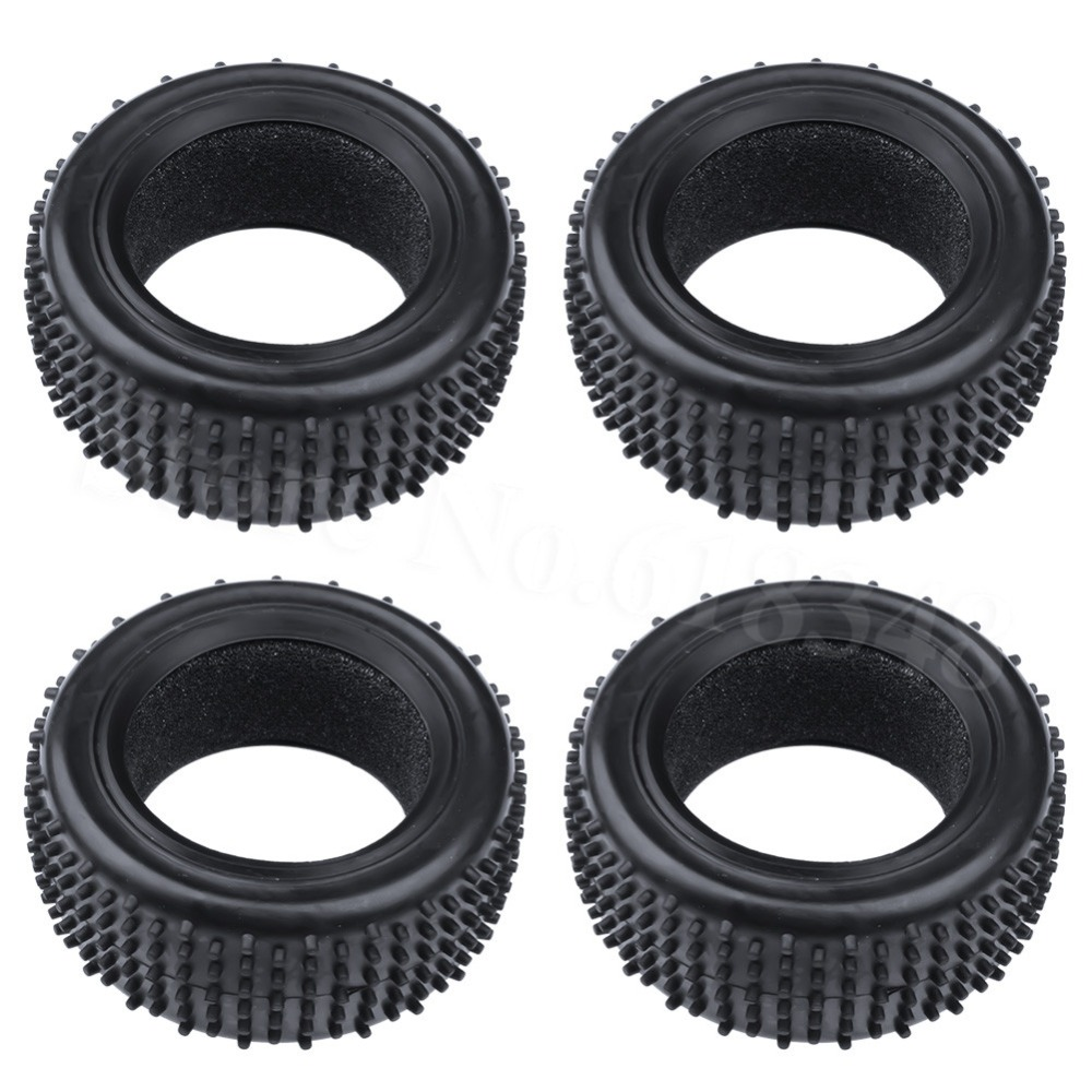 4PCS RC 1/10 Scale Buggy Tires Front and Rear With Foam Inserts OD: 85mm/3.34 ID: 56mm/2.2 For Redcat HSP HPI Racing Model Car