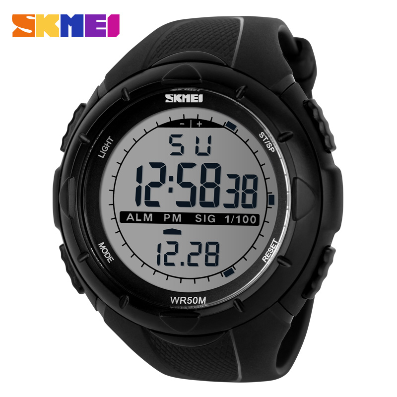 2018 New Skmei Brand Men LED Digital Military Watches Fashion Sports Watch Dive Swim Outdoor Wristwatches Running Clock 1025