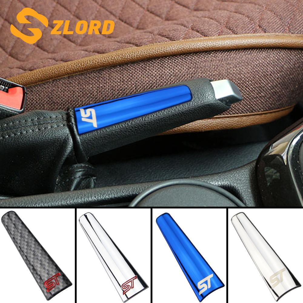 Car Hand Brake Trim Handbrake Handle Cover Stickers Fit For Ford Focus 2 3 4 MK2 MK3 MK4 2009 - 2017 Accessories