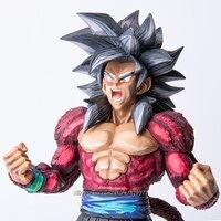 34cm Japan Anime Dragon Ball GT Collection Figure Super Saiyan 4 Son Goku Figurine Action Figure Toys Doll DragonBall Model