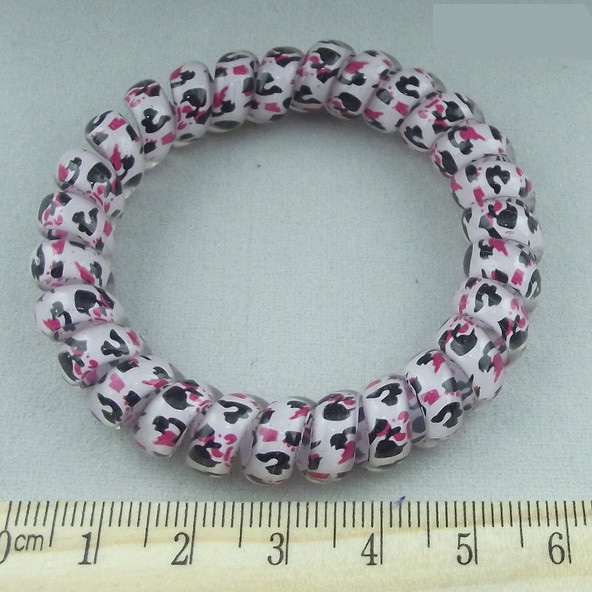 New plastic Girl Rubber Telephone Wire Style Hairband Hair Ties ...