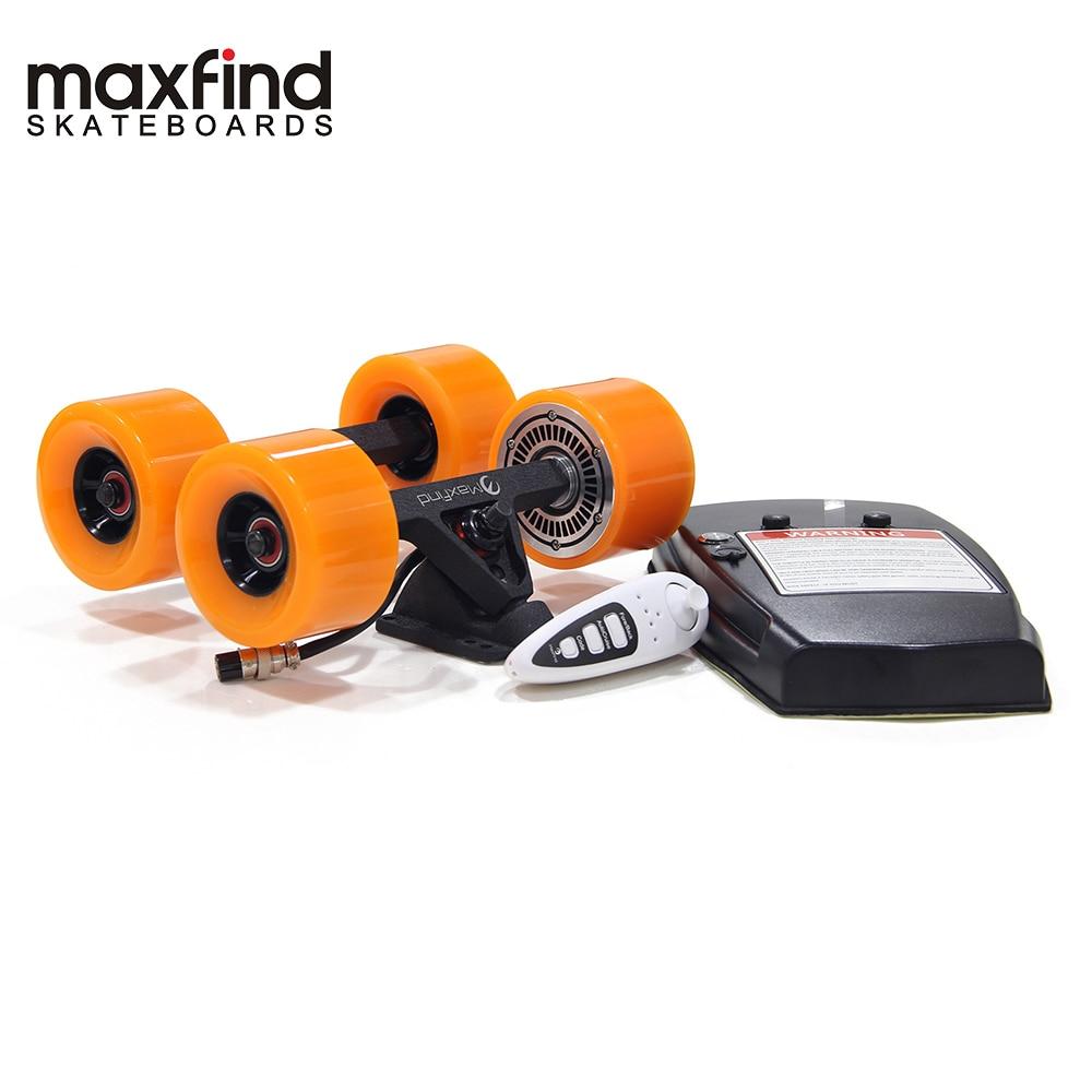 Maxfound bricolage Kits d'entraînement de planche à roulettes électrique avec moteurs à moyeu simple quatre roues batterie LG 2.2AH