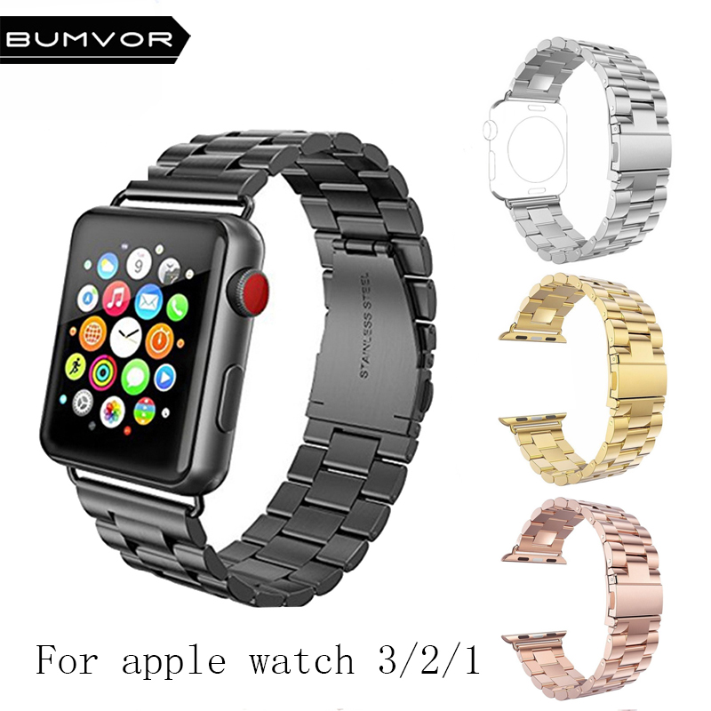 Steel Watchband for iWatch Apple Watch serise 1 2 3 Sport Edition 38mm 42mm Wrist Band Bracelet Strap with adapter Replacement цена