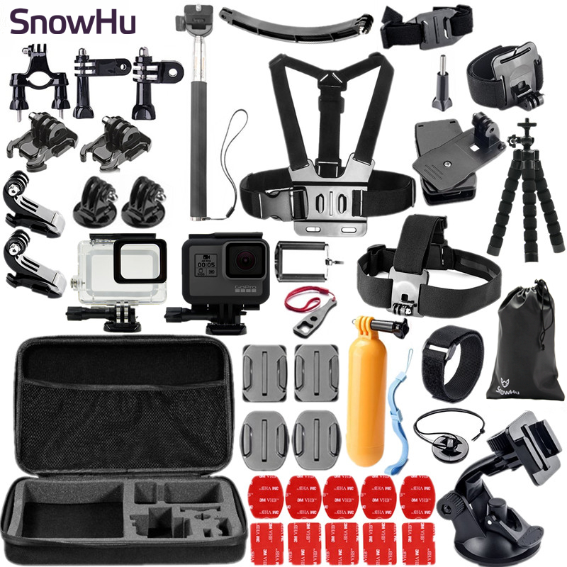 SnowHu for Gopro Hero 6 5 Accessories Waterproof Protection Housing Case Diving 45M Protective For Gopro Hero 6 5 Camera GS41 justone professional diving housing yellow orange purple filters for gopro hero 3